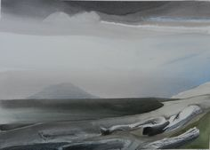 Toni Onley, Title: Browning Bay, North Pender Island, B. Very representative of the artist's work. Landscaping Las Vegas, Landscaping Jobs, Canadian Painters, Canadian Artists, Watercolor Landscape, Landscape Paintings, Landscapes, Artist Art, Artist At Work