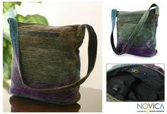 @Overstock.com - Bamboo Chenille 'Magic Forest' Medium Shoulder Bag (Guatemala) - By K'amolon K'i K'ojonel, this hand-woven shoulder bag from Guatemala combines tones of green, turquoise and purple. The bamboo chenille shoulder bag is lined with cotton, and is shaped by a foam interfacing at the bottom.  http://www.overstock.com/Worldstock-Fair-Trade/Bamboo-Chenille-Magic-Forest-Medium-Shoulder-Bag-Guatemala/6291281/product.html?CID=214117 $50.73