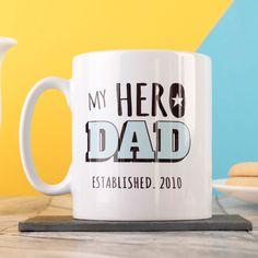Personalised Mug - My Hero Dad | GettingPersonal.co.uk