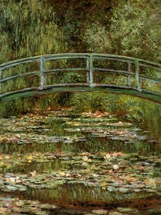 The Japanese Bridge by Claude Monet. This is such a beautiful, peaceful setting - Monet's garden at Giverny, Normandy.  I look forward to going back there sme time.