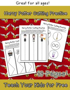 FREE Harry Potter Cutting Practice Printable