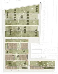 Davide Consolati, Paolo Guidotto, Valeria Zamboni, Massimo Peota - Orti per… Landscape Architecture Drawing, Architecture Graphics, Urban Architecture, Landscape Plans, Landscape Design, Architecture Site Plan, Forest Landscape, Commercial Architecture, Classical Architecture