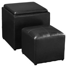 Tammy 2 Piece Storage Ottoman Set