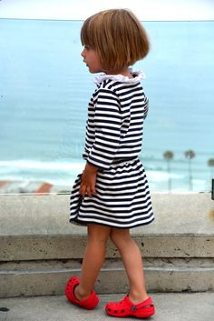 Child's Sewing Pattern Bateau Neck Dress Pattern by WeeMuses