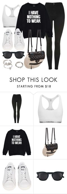 """Style #11425"" by vany-alvarado ❤ liked on Polyvore featuring Topshop, Calvin Klein, Chanel, adidas, Yves Saint Laurent and Forever 21"