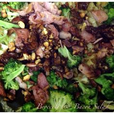 Bacon & Broccoli Salad #Paleo #Banting