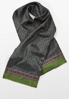 Seidenschal Atkinsons Paisley-Muster grün