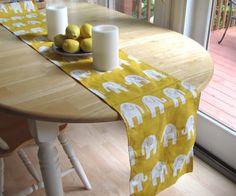 Yellow  Table Runner.Birthday  Table Runner.Yellow by KikoyChic, $18.00