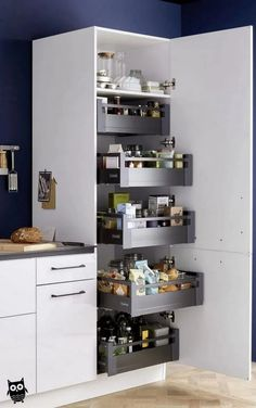 Funky Home Decor You should keep ., 56 Funky Home Decor You should keep ., 44 Clever Kitchen Storage Ideas and Trends for 2019 33 gorgeous kitchen design ideas 13 Kitchen Pantry Design, Diy Kitchen Storage, Interior Design Kitchen, Kitchen Cupboard, Kitchen Organization, Bathroom Storage, Organization Ideas, Storage Ideas, Kitchen Cart