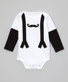 Loving this White Mustache Bodysuit - Infant on #zulily! #zulilyfinds