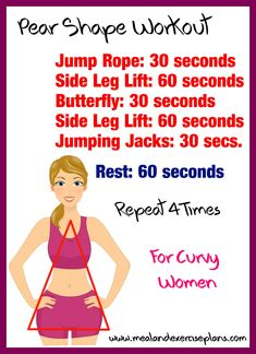 Pear shape Workout