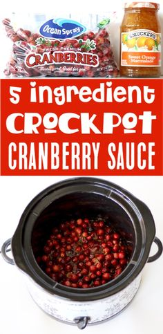 Thanksgiving Recipes Simple Do-it-yourself Crockpot Cranberry Sauce! Thanksgiving Recipes Simple Do-it-yourself Crockpot Cranberry Sauce! Thanksgiving Recipes Simple Do-it-yourself Crockpot Cranberry Sauce Recipe! Easy Thanksgiving Recipes, Thanksgiving Appetizers, Holiday Recipes, Thanksgiving Cranberry Sauce, Thanksgiving Drinks, Thanksgiving Turkey, Holiday Treats, Christmas Recipes, Dinner Recipes