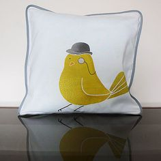 Bird About Town Cushion Cover