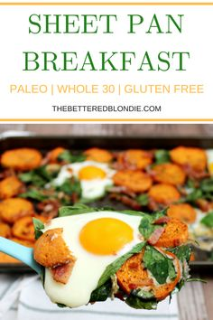 Sheet Pan Breakfast - Paleo and Whole 30 - The Bettered Blondie