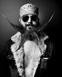 Cool mustage and beard