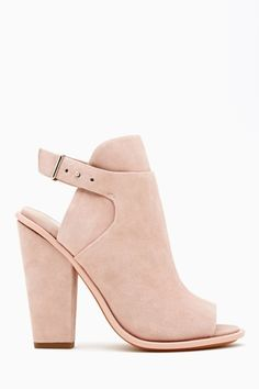 Niven Sandal (Blush Kidsuede) from Nasty Gal. It's so different (but still extremely cute) and I love the color.