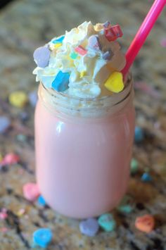 Looking to steal the heart of your little valentine? This conversation heart strawberry hot chocolate is sure to hit their sweet spot.