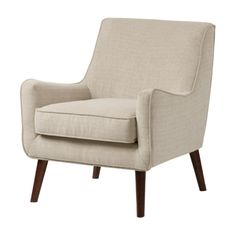 Oxford Cream Colored Modern Accent Chair - Overstock™ Shopping - Great Deals on Living Room Chairs