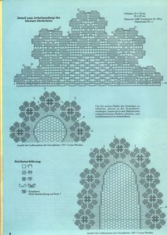 trittico filet ovale rotondo (2) - magiedifilo.it punto croce uncinetto schemi gratis hobby creativi