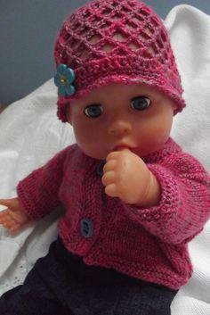 Oblečky pro panenku - souprava v růžové Baby Born Clothes, American Dolls, Knitted Dolls, Kids And Parenting, Baby Knitting, Doll Clothes, Crochet Hats, Children, Mini