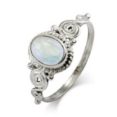 This sterling silver vintage heirloom moonstone ring would make for a truly beautiful gift.