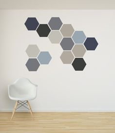 Removable Honeycomb Wall Decal 6 Hexagon Stickers by Nicematches