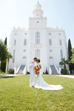 St. George temple wedding.