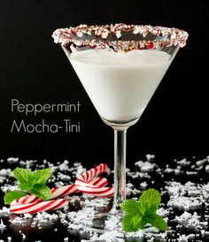 This Peppermint Mocha-tini recipe uses a popular coffee creamer and is perfect for a holiday martini to serve your guests.