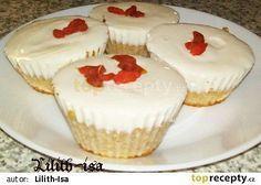 Tvarohové muffiny (Dukanova dieta) recept - TopRecepty.cz Cheesecake, Low Carb, Cupcakes, Desserts, Food, Dukan Diet, Loosing Weight, Food And Drinks, Tailgate Desserts