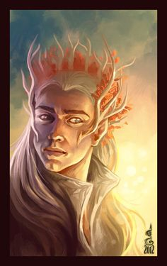 A better depiction of Thranduil than the movie version.
