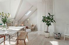 my scandinavian home: white furniture light white floor Attic Inspiration, Interior Inspiration, Scandinavian Loft, Lovely Apartments, Interior Architecture, Interior Design, Home And Deco, White Houses, White Decor
