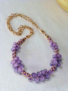 Purple Twilight Unicorne Teardrops and Rose Gold
