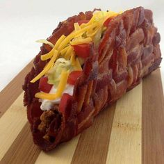 Just when you thought tacos couldn't get any better.....bacon! —