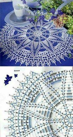 World crochet: Napkin 385 Filet Crochet, Crochet Doily Diagram, Crochet Doily Patterns, Crochet Mandala, Crochet Art, Crochet Round, Crochet Home, Thread Crochet, Crochet Motif