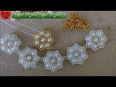How to bead funny accessory:Pearl Flower Pendant - YouTube
