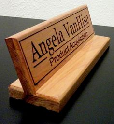 Office Accessories Decor: Desk Name Plate For Her Birthday Gift ...