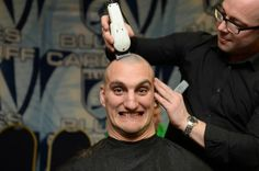 Sam Warburton has his hair shaved off to raise money for Velindre in support of teammate Matthew Rees Rugby News, British Lions, Welsh Rugby, Cardiff, How To Raise Money, Wales, Haircuts, Charity, Passion