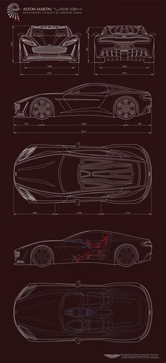 Aston Martin VIE GH_Anniversary 100 concept_Part 1 by Grigory Gorin, via Behance