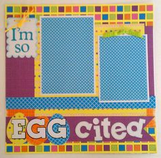 Easter  Egg cited  Coloring eggs  Holiday  premade by ohioscrapper, $15.00