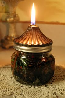 The Simple Cake: Canning Jar Oil Lamps