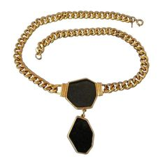 Wear this vintage era piece of artwork for a special occasion. Chunks of black enamel give this gorgeous choker a bit of drama and mystery. #stuff4uand4u