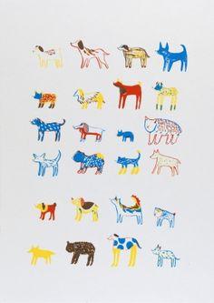 Gravures & Estampes | Encore Super | Les chiens | Tirage d'art en série limitée sur L'oeil ouvert Thing 1, Artwork, Disney Characters, Fictional Characters, Colours, Illustration, Images, Studio, Design