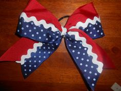 Red White and Blue Cheer Bow.........handmade by OurHomemadeBows, $8.00