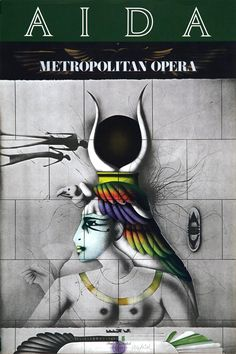 Aida Met Opera Poster | From a unique collection of figurative prints at https://www.1stdibs.com/art/prints-works-on-paper/figurative-prints-works-on-paper/