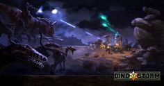 Dino Storm Concept Art 1