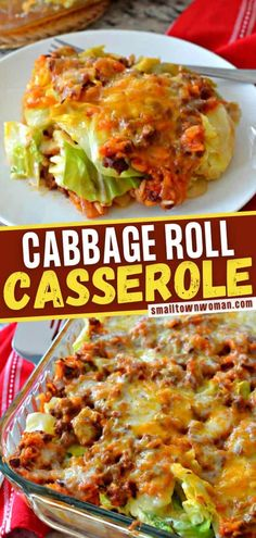 Get all the delicious flavors of cabbage rolls with a lot less time and effort! This easy casserole comes together quickly and makes eight healthy servings. Plus, leftovers heat perfectly in the microwave! Check out how you can add a little bit of kick and extra spice! Cabbage Recipes, Meat Recipes, Dinner Recipes, Cooking Recipes, Healthy Recipes, Recipies, Atkins Recipes, Healthy Dinners, Healthy Foods