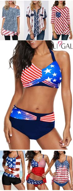 6f68fa5ab9f33 cute tops for #4thofjuly, #patriotic tops, American Flag print tops, Star
