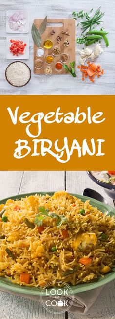 Vegetable Biriyani recipe is the most popular healthy and delicious biryani with vegetables and rice.This goes well with raita, papads and pickles. Veggie Recipes Easy, Lamb Recipes, Vegetable Recipes, Indian Food Recipes, Vegetarian Recipes, Chicken Recipes, Cooking Recipes, Healthy Recipes, Vegetable Rice