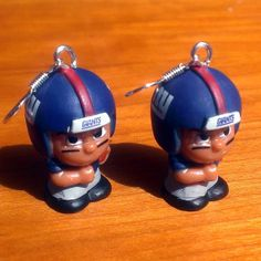 New York Giants Teenymates Earrings by BabyRoomPrints on Etsy, $20.00