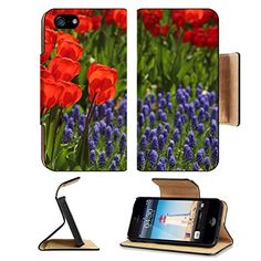 MSD Premium Apple iPhone 5 iphone 5S Flip Pu Leather Wallet Case Tulips in a park iPhone5 IMAGE 34564486 >>> You can find more details by visiting the image link.